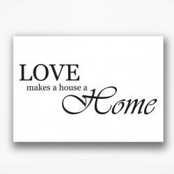 Poster - Love makes a house a