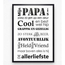 Poster - Mijn papa