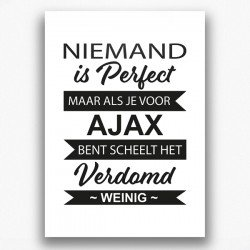 Poster - Niemand is perfect AJAX