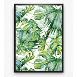 Poster - Tropische bladeren Tropical leaves