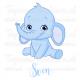 Geboortesticker - Olifantje jongen