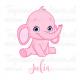 Geboortesticker - Olifantje meisje
