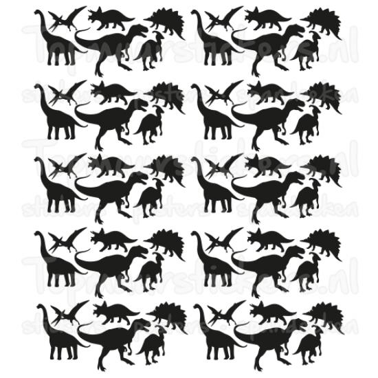 Muursticker - Dinosaurus set