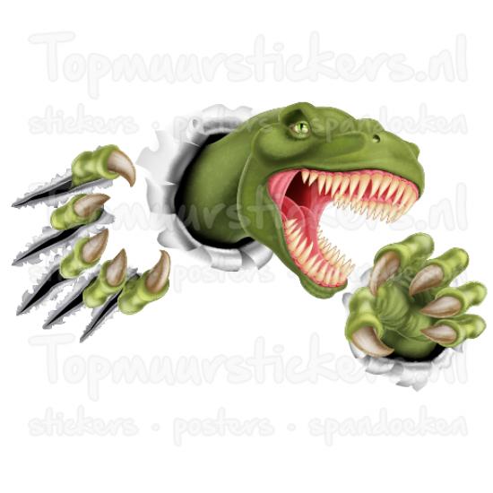 Muursticker - Dinosaurus T-Rex