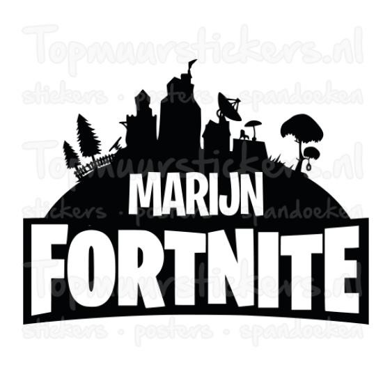 Muursticker - Fortnite met naam