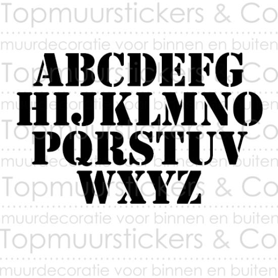 Muursticker - Naamsticker Thijs
