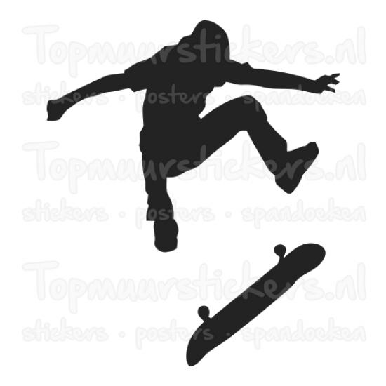 Muursticker - Skater