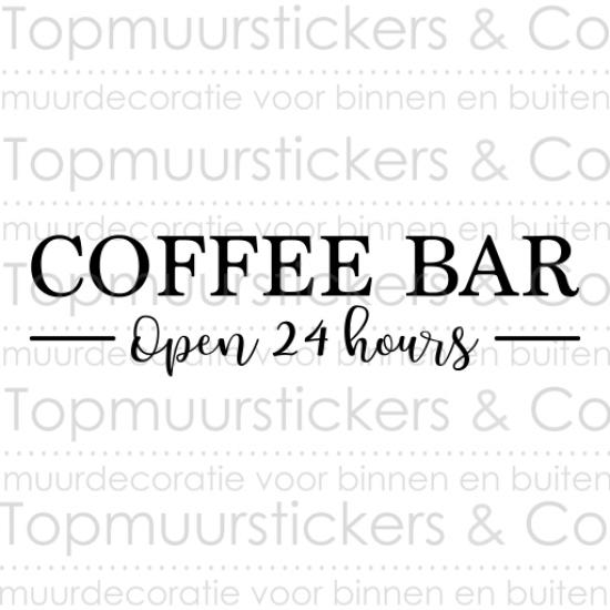 Muursticker - Coffee Bar