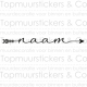 Muursticker - Naamsticker Pijl