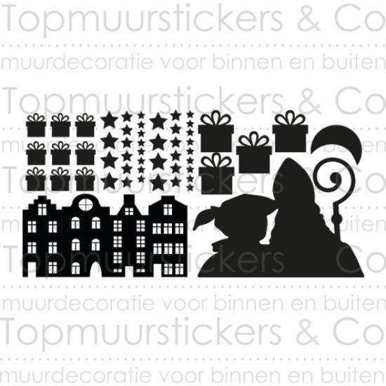 Statische raamsticker - Sinterklaas