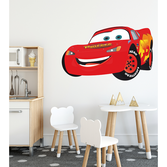 Cars Muurstickers Kinderkamer.Muursticker Cars Lightning Mcqueen