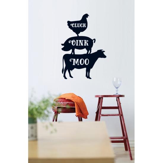 Muursticker - Kip varken koe