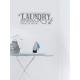 Muursticker - Muurtekst Laundry self service