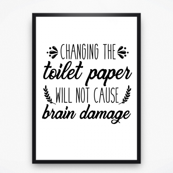 Poster - Changing the toilet paper