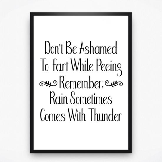 Poster - Don't be ashamed