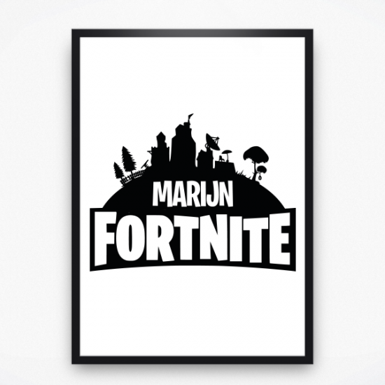Poster - Fortnite met naam