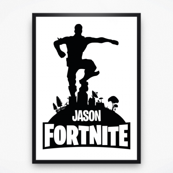 Poster - Fortnite winner met naam