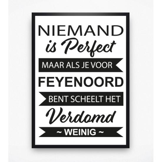 Poster - Niemand is perfect Feyenoord