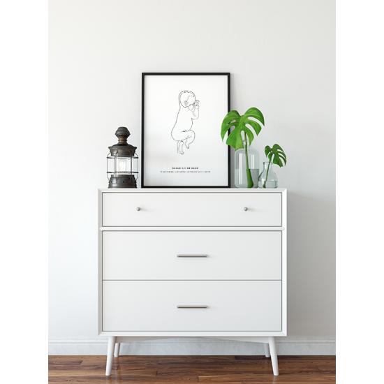 Poster - Geboorteposter Baby Line