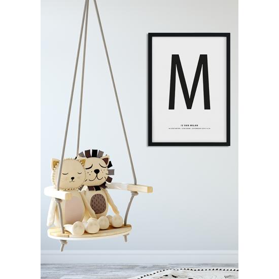 Poster - Geboorteposter Letter