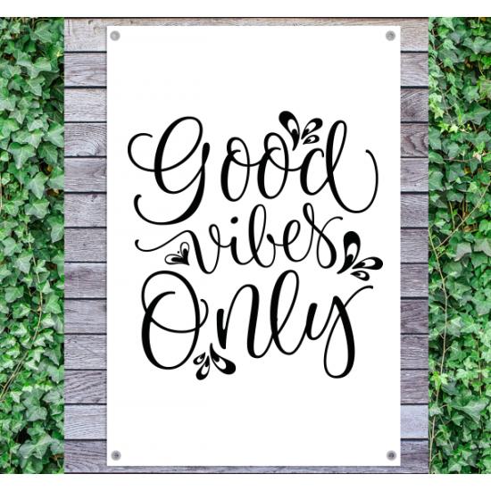 Tuindoek - Tuintekst Good Vibes