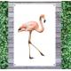 Tuindoek - Tuinposter Flamingo
