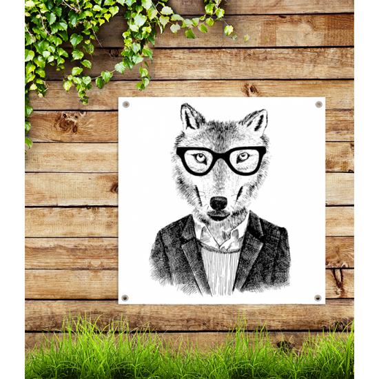 Tuindoek - Tuinposter Hipster Vos