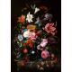 Textielposter Vaas met bloemen kleur