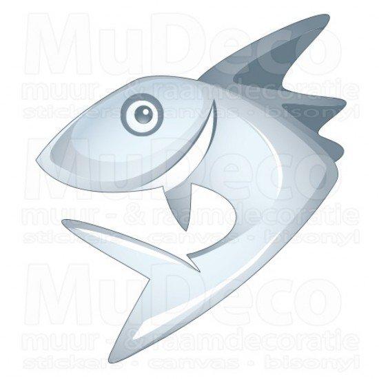 Muursticker - Interieursticker Haai