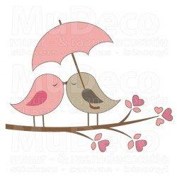 Muursticker - Interieursticker Love Birds