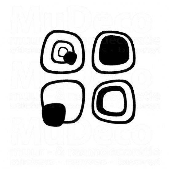 Muursticker - Interieursticker Retro
