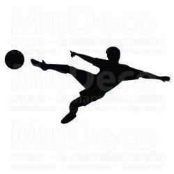 Muursticker - Interieursticker Sport Voetballer 1