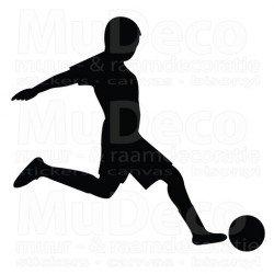 Muursticker - Interieursticker Sport Voetballer 2