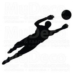 Muursticker - Interieursticker Sport Voetballer Keeper
