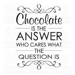 Muursticker - Muurtekst Chocolate