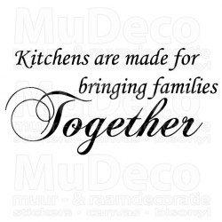 Muursticker - Muurtekst Kitchens