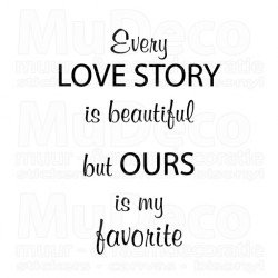 Muursticker - Muurtekst  Love Story