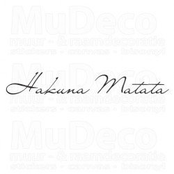 Muursticker - Muurtekst  Matata