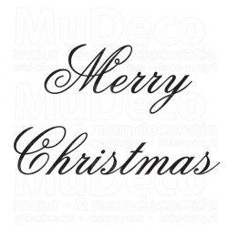 Muursticker - Muurtekst Kerst Merry Christmas