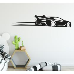 Muursticker - Interieursticker Race auto XL