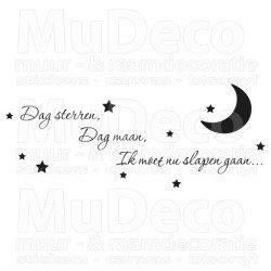 Muursticker - Muurtekst Dag sterren, dag maan