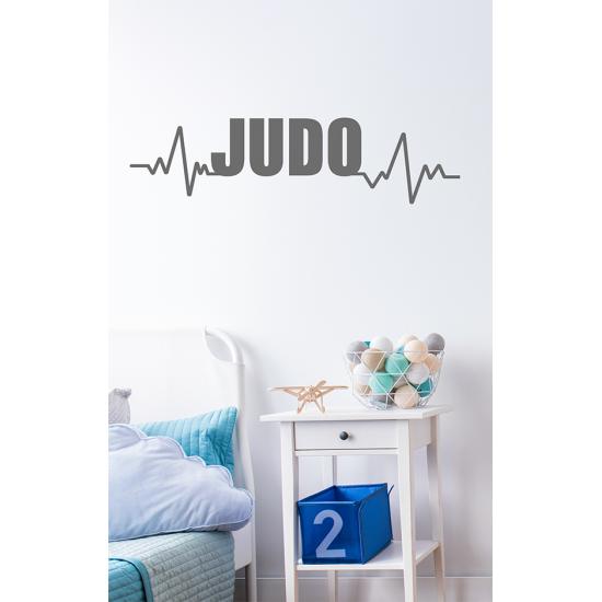 Muursticker - Judo hartslag