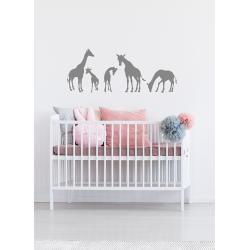 Muursticker - Giraffe familie