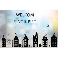 Statische raamsticker - Welkom Sint en Piet