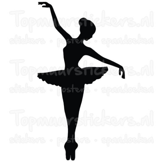 Muursticker - Balletdanseres