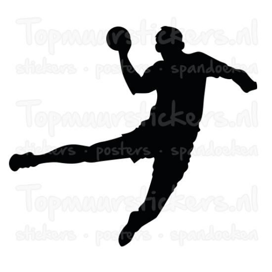 Muursticker - Handbal man