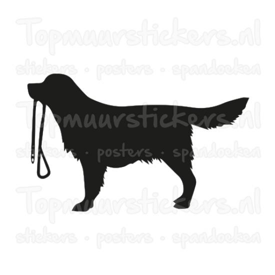 Muursticker - Hond uitlaten