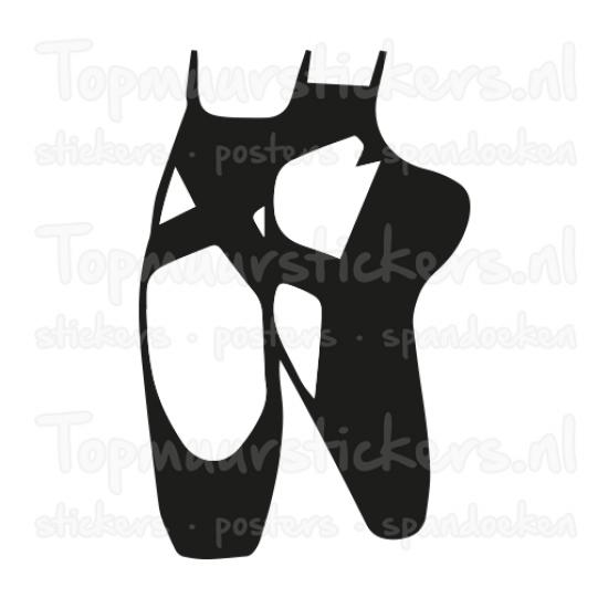 Muursticker - Interieursticker Balletschoenen