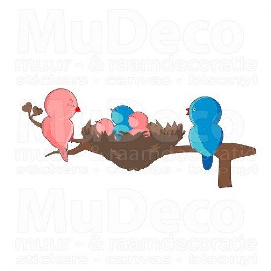 Muursticker - Interieursticker Vogels