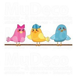 Muursticker - Interieursticker Vrolijke Vogels